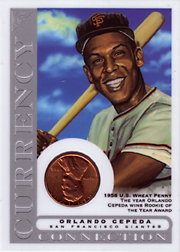 2003 Topps Gallery HOF Edition Currency Connection Coin Relic Orlando Cepeda #CC-OC 1958 Penny