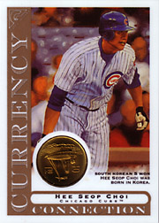2003 Topps Gallery Currency Connection Coin Relic Hee Seop Choi #CC-HC South Korean 5 Won