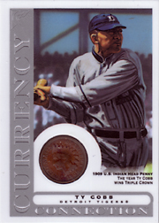 2003 Topps Gallery HOF Edition Currency Connection Coin Relic Ty Cobb #CC-TC 1909 Penny