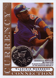 2003 Topps Gallery Currency Connection Coin Relic Vladimir Guerrero #CC-VG Dominican Republic 25 Centavo