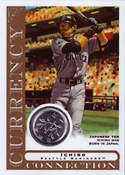 2003 Topps Gallery Currency Connection Coin Relic Ichiro Suzuki #CC-IS Japanese Yen