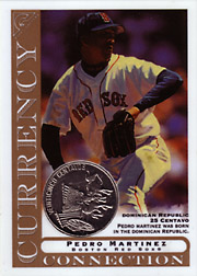 2003 Topps Gallery Currency Connection Coin Relic Pedro Martinez #CC-PM Dominican Republic 25 Centavo