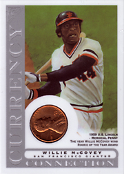 2003 Topps Gallery HOF Edition Currency Connection Coin Relic Willie McCovey #CC-WMC 1959 Penny