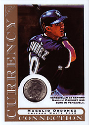 2003 Topps Gallery Currency Connection Coin Relic Magglio Ordonez #CC-MO Venezuelan 25 Centino