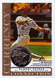 2003 Topps Gallery Currency Connection Coin Relic Albert Pujols #CC-AP Dominican Republic 25 Centavo