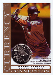 2003 Topps Gallery Currency Connection Coin Relic Manny Ramirez #CC-MR Dominican Republic 25 Centavo