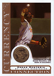 2003 Topps Gallery Currency Connection Coin Relic Edgar Renteria #CC-ER Colombian 10 Peso
