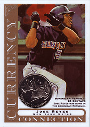 2003 Topps Gallery Currency Connection Coin Relic Jose Reyes #CC-JR Dominican Republic 25 Centavo