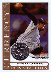2003 Topps Gallery Currency Connection Coin Relics Mariano Rivera #CC-MRI Panamanian 1 Centesimo