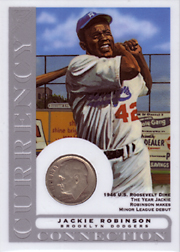 2003 Topps Gallery HOF Edition Currency Connection Coin Relic Jackie Robinson #CC-JR 1946 Dime