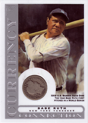 2003 Topps Gallery HOF Edition Currency Connection Coin Relic Babe Ruth #CC-BR 1916 Dime