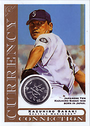 2003 Topps Gallery Currency Connection Coin Relic Kazuhiro Sasaki #CC-KS Japanese Yen