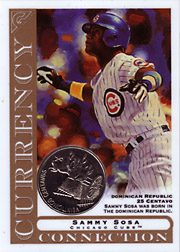 2003 Topps Gallery Currency Connection Coin Relic Sammy Sosa #CC-SS Dominican Republic 25 Centavo