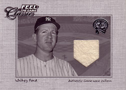 "2001 Fleer Greats ""Feel the Game Classics"" Whitey Ford Jersey #5"