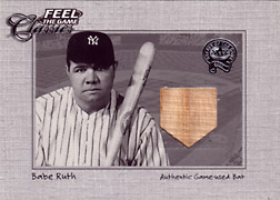 "2001 Fleer Greats ""Feel the Game Classics"" Babe Ruth Bat #18"