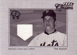 "2001 Fleer Greats ""Feel the Game Classics"" Tom Seaver Jersey #20"