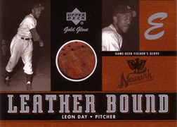 2001 Upper Deck Gold Glove Leather Bound #LBLD Leon Day