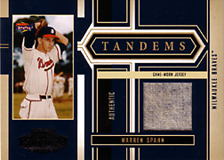 2004 Playoff Honors #T7 Warren Spahn Jersey