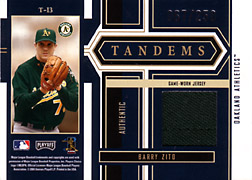 2004 Playoff Honors #T13 Barry Zito Jersey