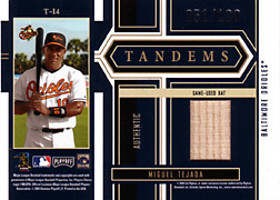 2004 Playoff Honors #T14 Miguel Tejada Bat