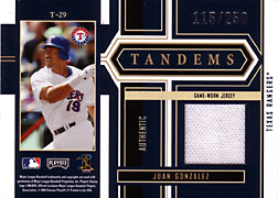 2004 Playoff Honors #T29 Juan Gonzalez Jersey